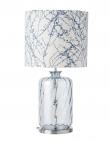 EBB & FLOW  - Pillar Lampfot, topaz blue dimples, Silverbas