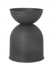 Ferm Living - Hourglass Kruka M - Svart/Mörkgrå