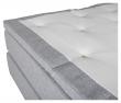 Furudal Kontinentalsäng Fast/Fast med 7 komfortzoner, Ljusgrått tyg, 180x200