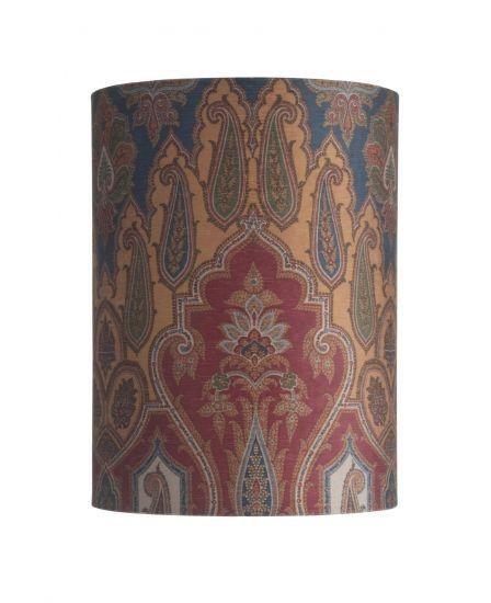 Ebb&Flow - Lampskärm, brocade, blue/red, Ø30, bordslampa