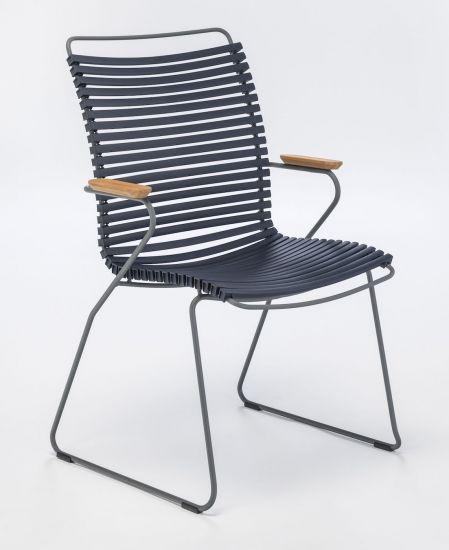 HOUE - CLICK Trädgårdsstol Hög - Mörkblå