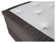 Furudal Kontinentalsäng Medium med 7 komfortzoner, Mörkgrå sammet, 120x200 