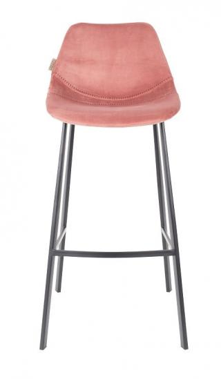 Dutchbone Franky Barstol - Old pink sammet