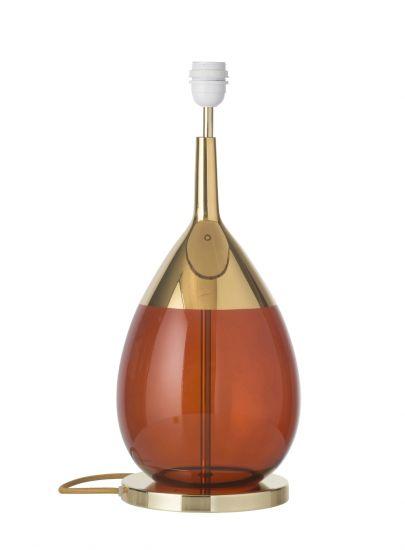 Ebb&Flow - Lute Lampfot, rust/Guld, Guld bas
