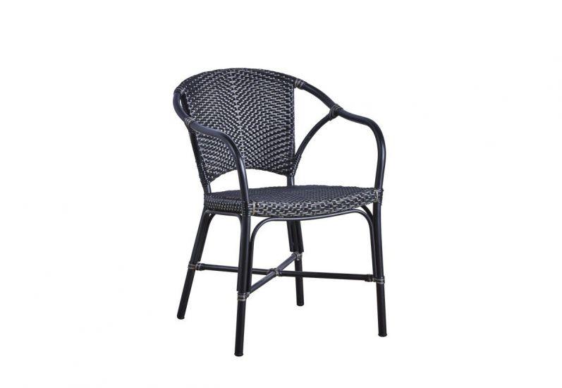 Sika-Design - Valerie Trädgårdsstol m. armstöd - Svart