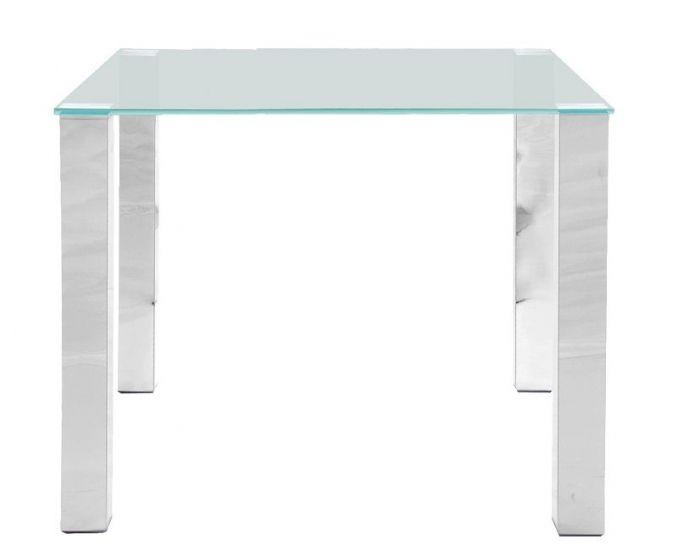 May Matbord 90x90 - Bordsskiva i härdat glas
