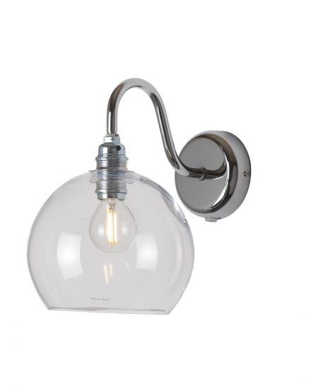 Ebb&Flow - Rowan Vägglampa, Klar m. Silver, Ø15,5