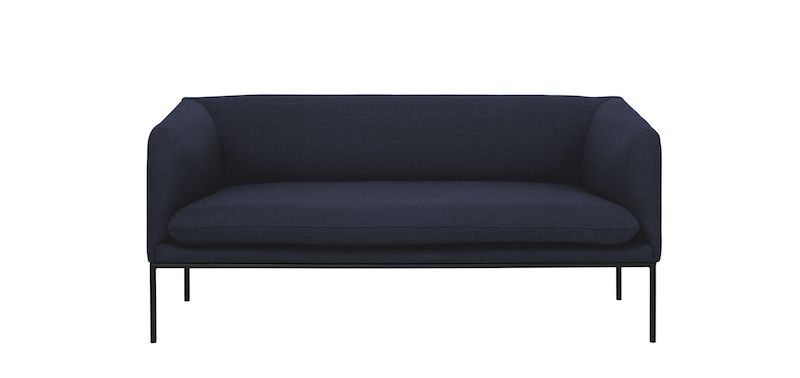 Ferm Living - Turn Soffa 2 Fiord - Solid Blå