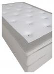 Furudal Kontinentalsäng Medium med 7 komfortzoner, Beige tyg, 120x200 